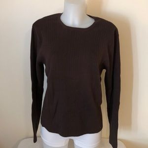 Talbots size XL brown longsleeved red sweater